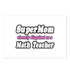 """Super Mom..Math Teacher"" Postcards (Package of 8)"