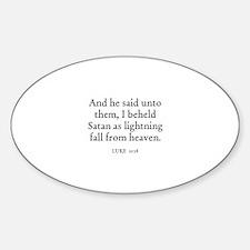 LUKE 10:18 Oval Decal