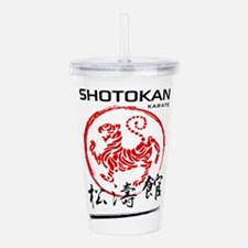 Shotokan Karate Tiger Acrylic Double-wall Tumbler