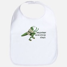 Kung Fu Grasshopper Bib