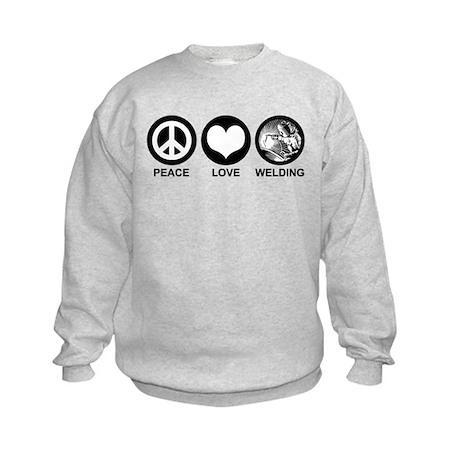 Peace Love Welding Kids Sweatshirt