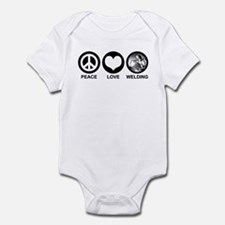 Peace Love Welding Infant Bodysuit