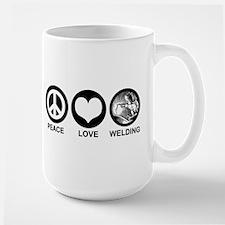 Peace Love Welding Mug