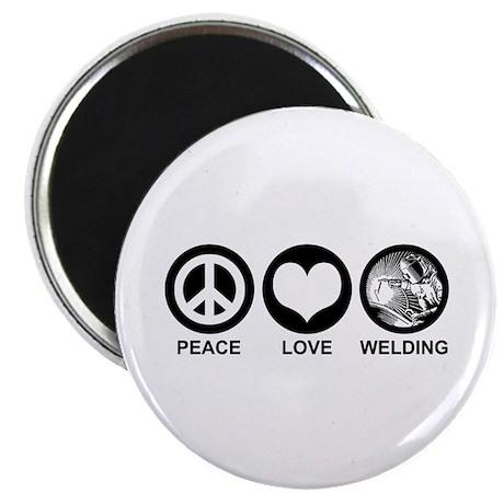 Peace Love Welding Magnet