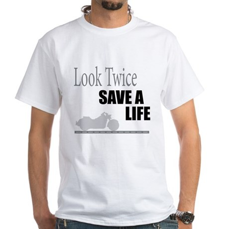 Look Twice White T-Shirt