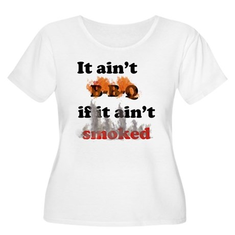 Bbq-smoked Women's Plus Size Scoop Neck T-Shirt