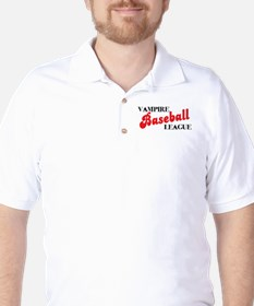 Vampire Baseball League Golf Shirt