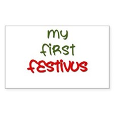 My First Festivus Rectangle Decal