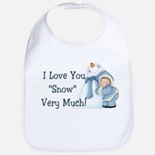 "I Love You ""Snow"" Very Much! Bib"