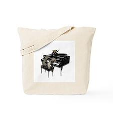 Piano with Three Ferrets Tote Bag