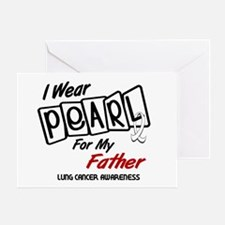 I Wear Pearl For My Father 8 Greeting Card