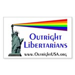Outright Libertarians Sticker (Rectangle)
