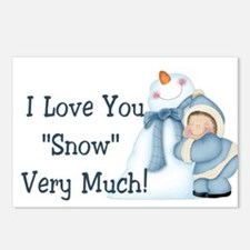 "I Love You ""Snow"" Very Much! Postcards (Package of"