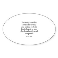 LUKE 11:10 Oval Decal