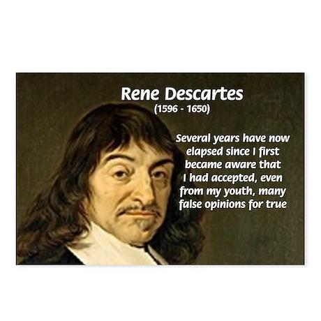 Rene Descartes Postcards (Package of 8)