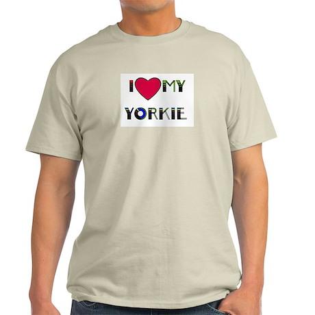 I LOVE MY YORKIE Ash Grey T-Shirt