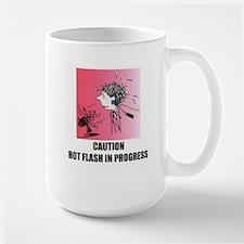Hot Flash Warning Large Mug