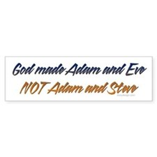 God made Adam & Eve... Bumper Car Sticker