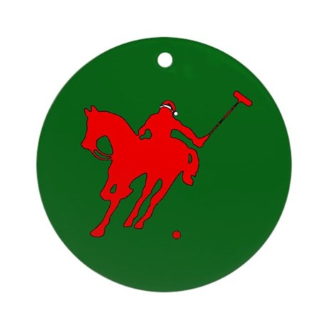 Polo Christmas Ornament (Round)