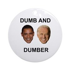 Obama Dumb and Dumber Ornament (Round)