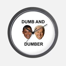 Obama Dumb and Dumber Wall Clock