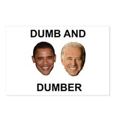 Obama Dumb and Dumber Postcards (Package of 8)