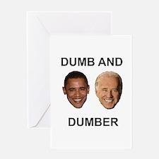 Obama Dumb and Dumber Greeting Card