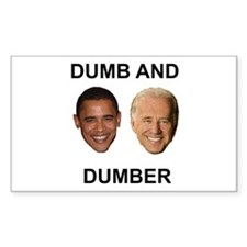 Obama Dumb and Dumber Rectangle Decal