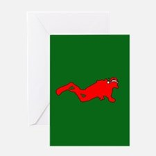 Christmas SCUBA Diver Greeting Card