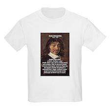 Philosopher Rene Descartes Kids T-Shirt