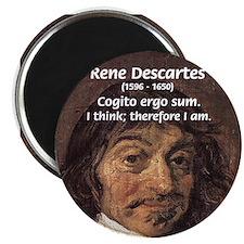"""Philosopher Rene Descartes 2.25"""" Magnet (10 pack)"""