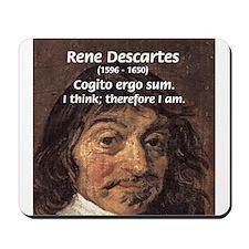 Philosopher Rene Descartes Mousepad