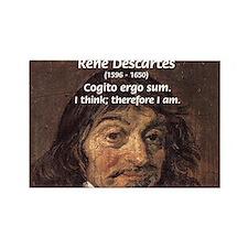Philosopher Rene Descartes Rectangle Magnet