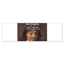 Philosopher Rene Descartes Bumper Bumper Sticker