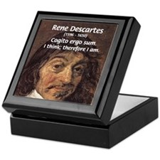 Philosopher Rene Descartes Keepsake Box