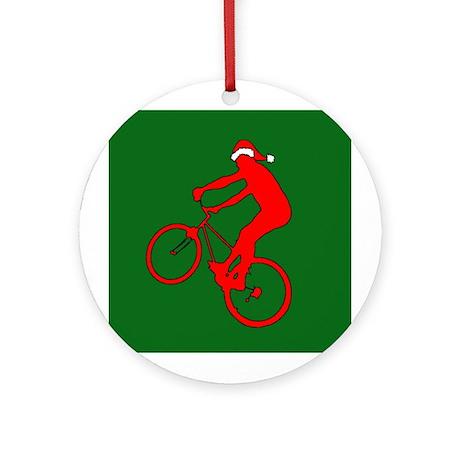 Mountain Bike Christmas Ornament (Round)