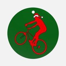 Mountain Bike Christmas Ornament (Round)