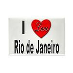 I Love Rio de Janeiro Rectangle Magnet (10 pack)