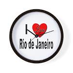 I Love Rio de Janeiro Wall Clock