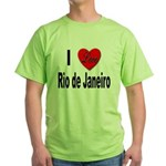 I Love Rio de Janeiro Green T-Shirt