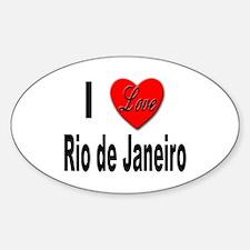 I Love Rio de Janeiro Oval Decal