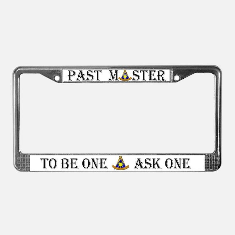 Past Master Mason License Plate Frame
