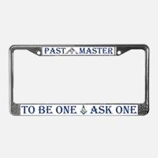 Masonic Past Master Euclid License Plate Frame