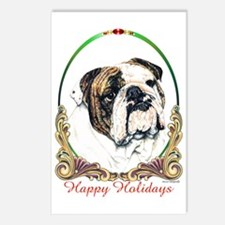 Bulldog Holiday Postcards (Package of 8)