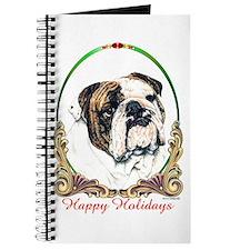 Bulldog Happy Holiday Journal