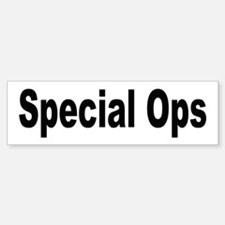 Special Ops Bumper Car Car Sticker