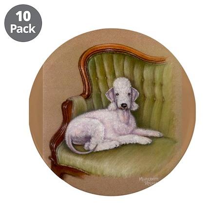 "Bedlington-Her Royal Highness 3.5"" Button (10 pack"