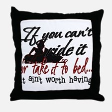 If You Can't Ride It... snowmobiling Throw Pillow