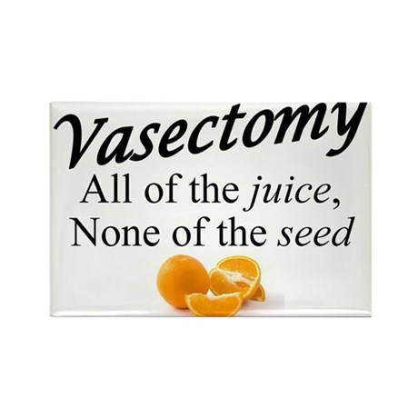 Vasectomy- expanded Rectangle Magnet (100 pack)