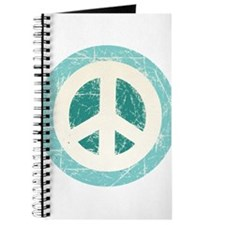 Classic Vintage Peace Sign Journal